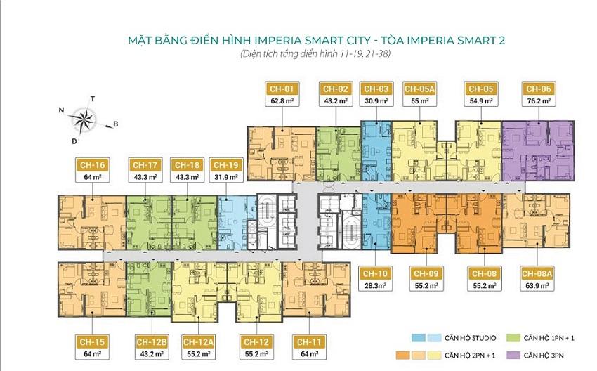Thiết kế mặt sàn Imperia Smart City