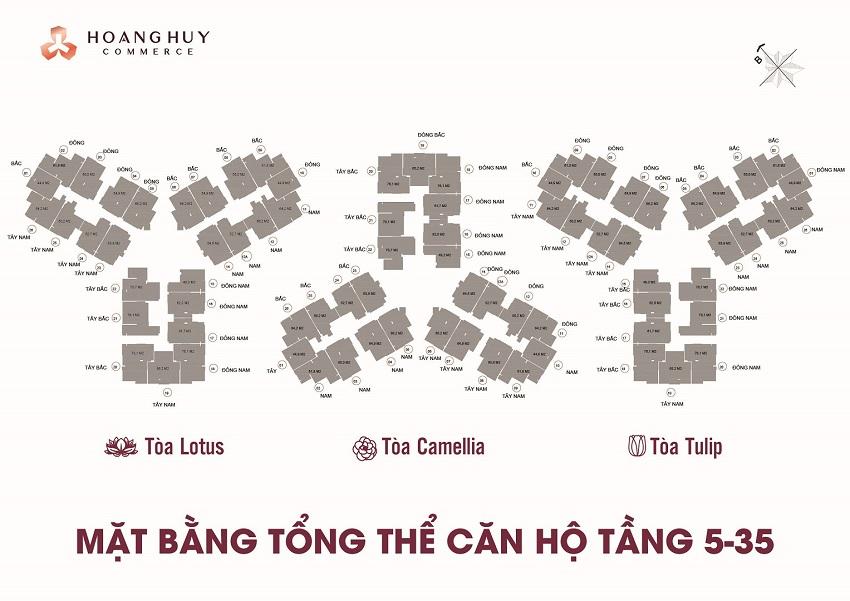 Mặt bằng tổng thể dự án Hoàng Huy Võ Nguyên Giáp Hải Phòng