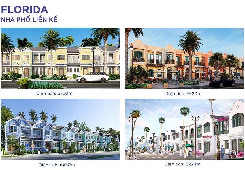 Thiết kế nhà phố liền kề Florida