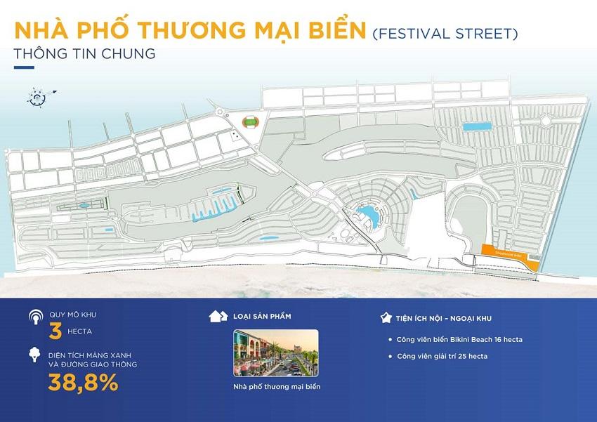 Phân khu Festival Street - Nhà phố thương mại biển