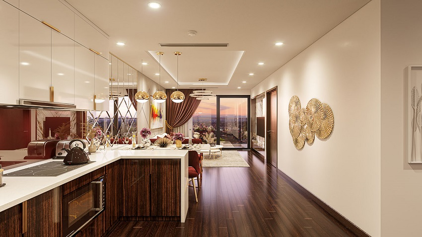 Thiết kế phòng Bếp căn hộ mẫu