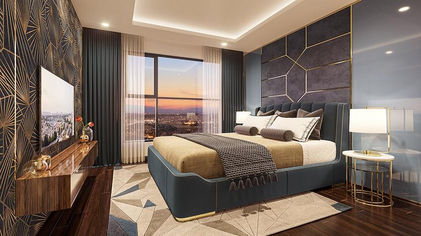 Thiết kế phòng Ngủ căn hộ mẫu
