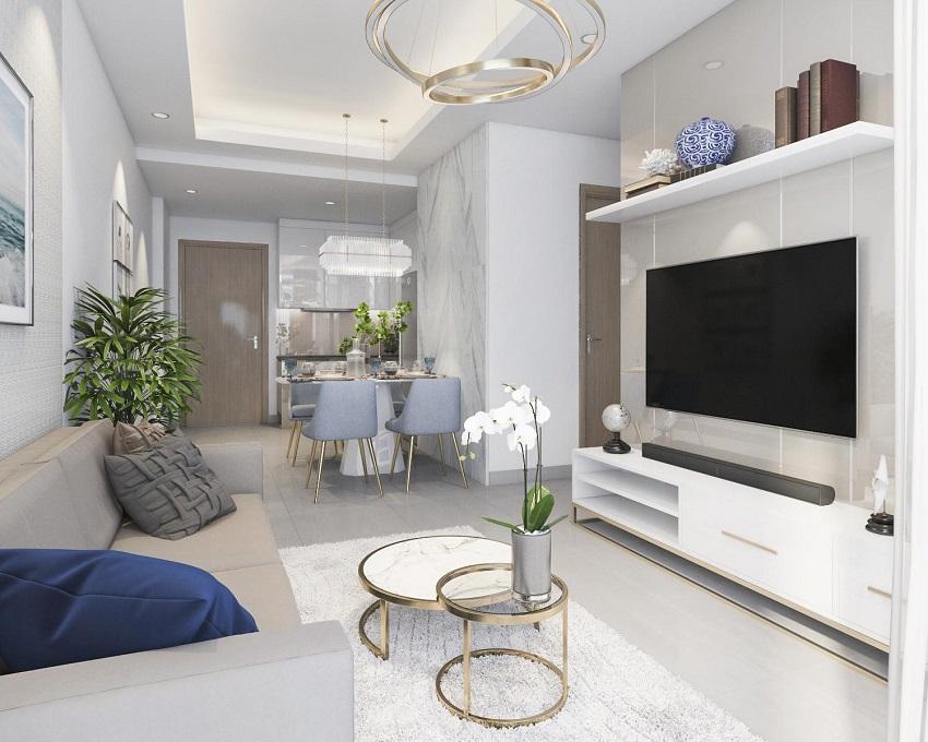 Thiết kế nhà mẫu Phòng khách + Bếp