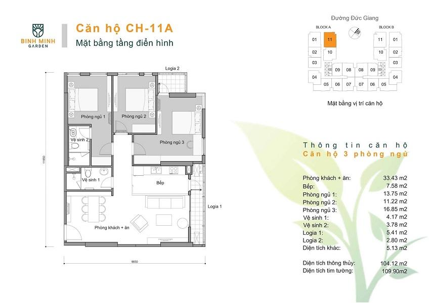 Thiết kế CH 11A chung cư Bình Minh Garden