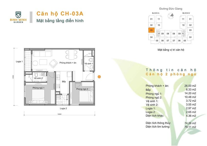 Thiết kế CH 03A chung cư Bình Minh Garden