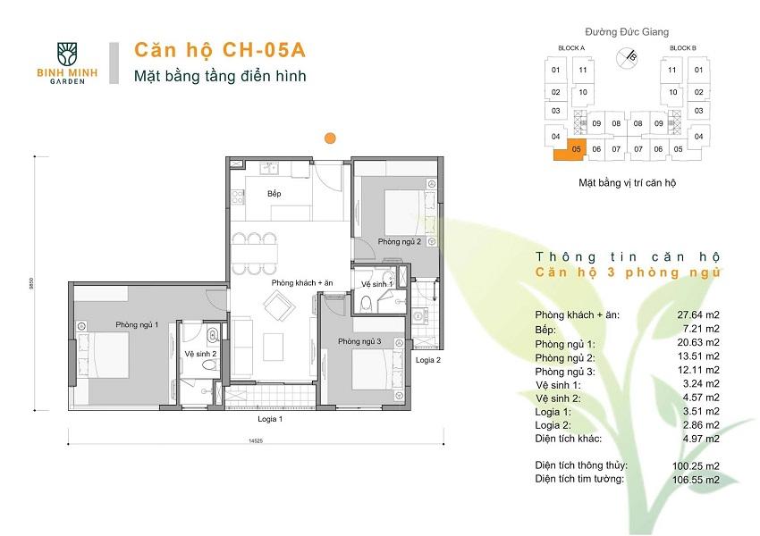 Thiết kế CH 05A chung cư Bình Minh Garden