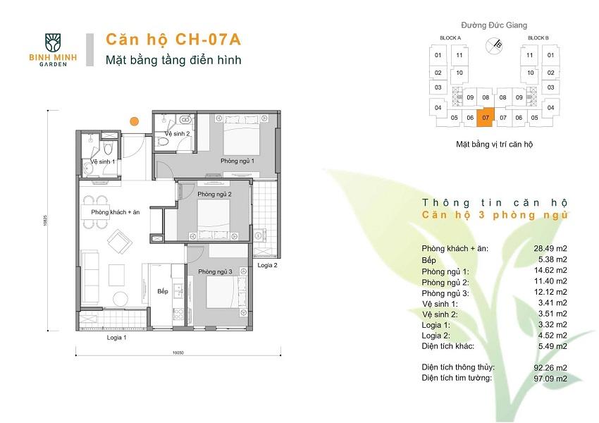 Thiết kế CH 07A chung cư Bình Minh Garden