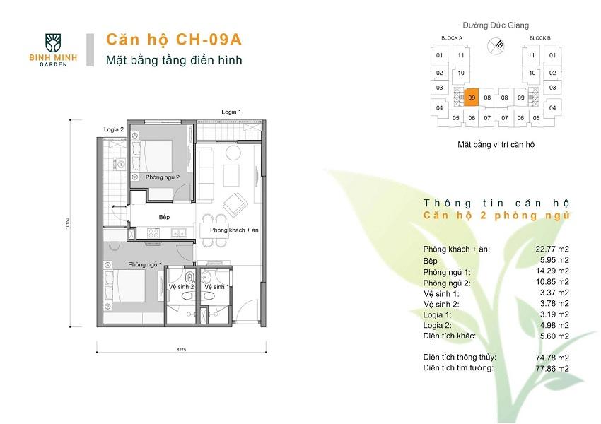 Thiết kế CH 09A chung cư Bình Minh Garden