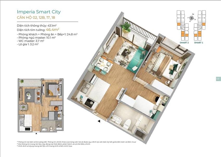 Thiết kế căn hộ 02, 12B, 17, 18