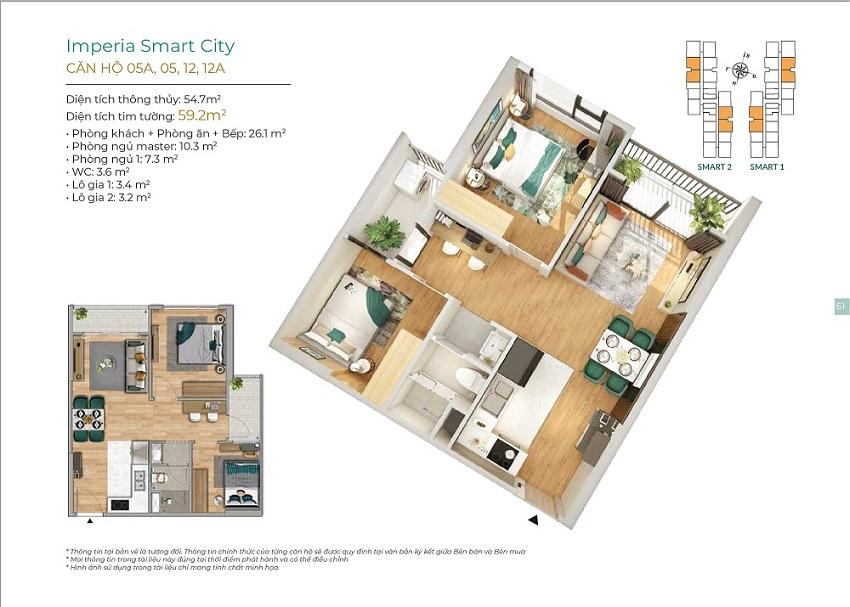 Thiết kế căn hộ 05A, 05, 12, 12A