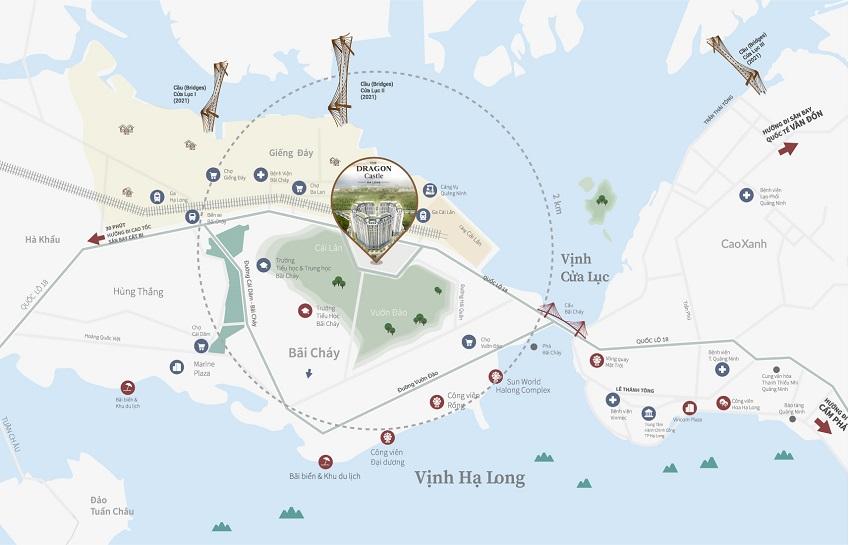 Vị trí dự án chung cư The Dragon Castle Hạ Long
