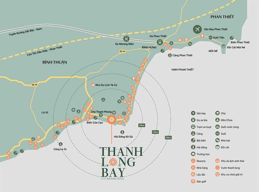 Vị trí dự án Thanh Long Bay